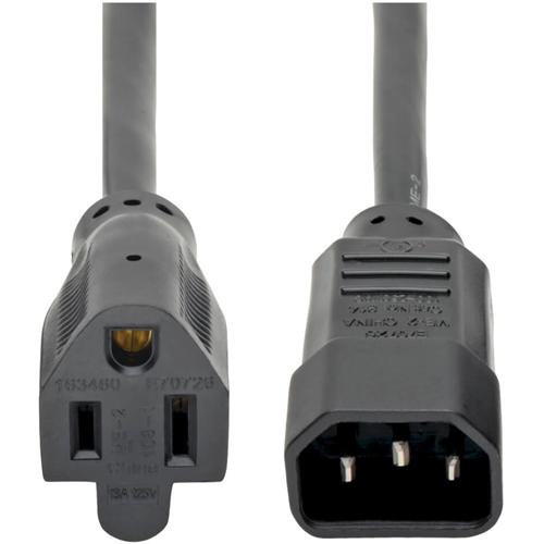 2-ft. AC power adapter cord PC style male (IEC-320-C14) to AC female (NEMA5-15R