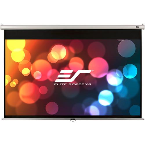 "Elite Screens Manual M120XWH2 120"" Manual Projection Screen"