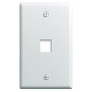"""Single Gang Wall Plate, 1-Port, Wht"""