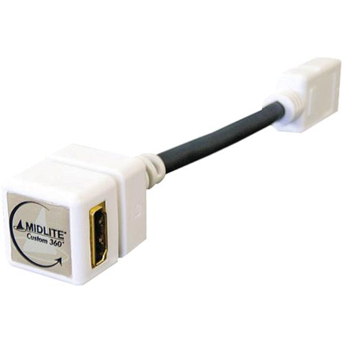 MIDLITE HDMI CONECTR 360 WHITE NIC