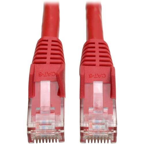 1FT CAT6 GIGABIT RED SNAGLESS PATCH CABLE RJ45M/M