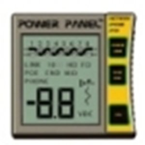 Inline Power Panel Cat5 / Cat6 DVM and Network / POE Tester