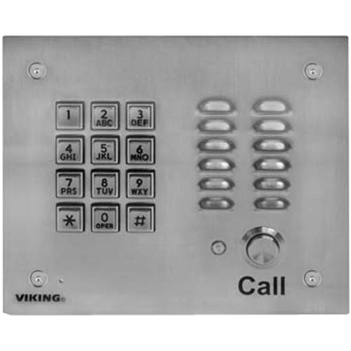 VIKING K-1700-3EWP SS Handsfree Phone W/ Key Pad