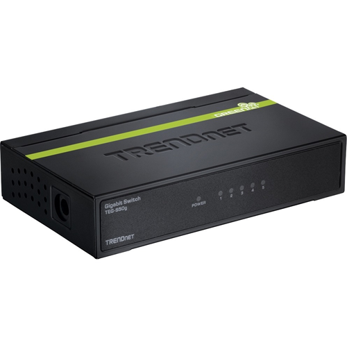 The compact 5-Port Gigabit GREENnet Switch provides high bandwidth performance, ease of use and reliability, all while reducing power consumption by up to 70%.GREENnet technology automatically adjusts power voltage as needed, resulting in substantial ener