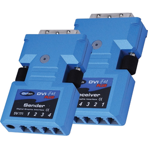 The DVI FMP Extender extends your DVI display up to 2000 feet away from your source, with only two tiny transmitters and receivers required, using a 100% optical fiber solution. It's a great way to extend DVI video easily and unobtrusively