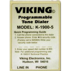 Viking K-1900-5 Touch Tone Hot Line Dialer with Non-Volatile Memory