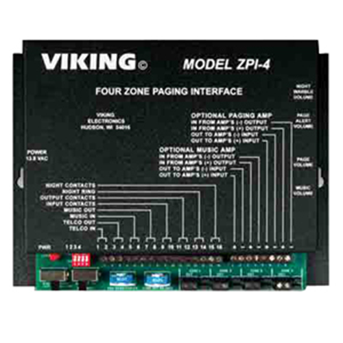 Viking Electronics ZPI-4 Four Zone Paging Interface