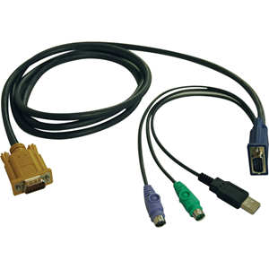 kvm Switch Cable Kit - 6-ft. PS2/USB Combo Cable Kit for B020-U08/U16-19-K and B022-U16 KVM Switches