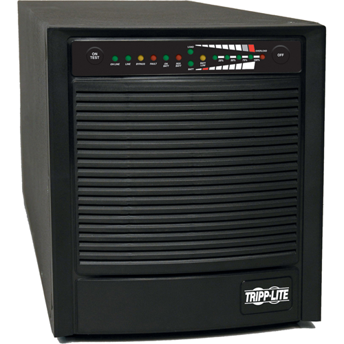 On-line, double conversion tower UPS system continuously maintains near-perfect output power for critical internetworking and telecommunications equipment. Completely regenerates input power into perfectly regulated sine wave output free of harmonic disto