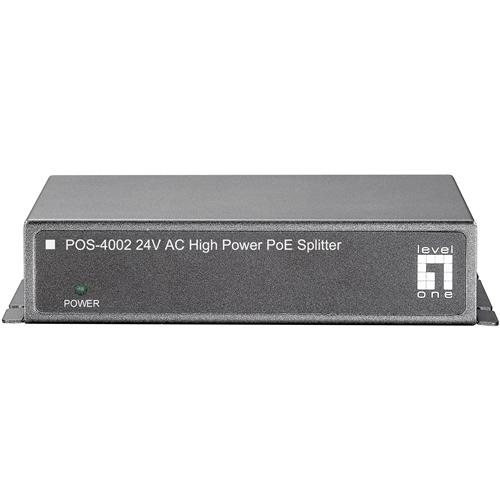 LevelOne POS-4002 High Power PoE Splitter AC 24V (For FCS-4010/FCS-4020)