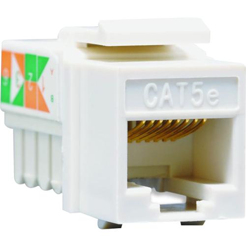 CAT 5E DATA JACK, WHITE