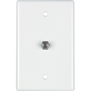 COAX WALL PLATE WHITE