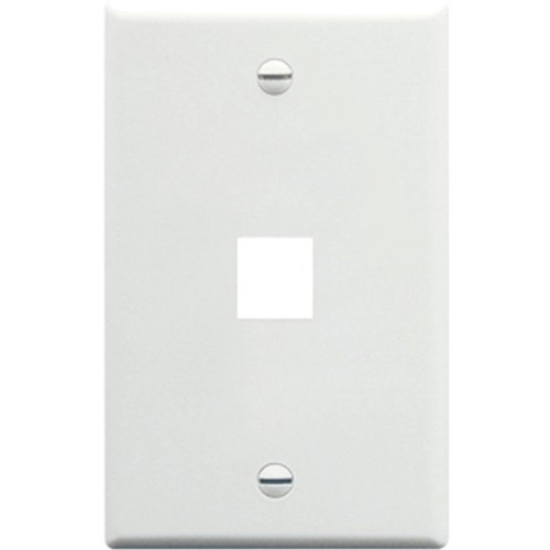 1 PORT SGL GANG WALLPLATE WH