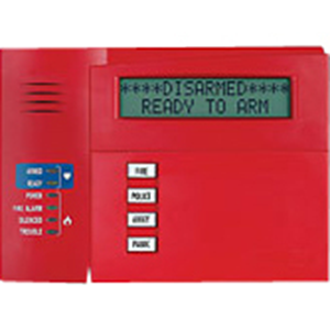 KEYPAD,ALPHA COMMERCIAL, FIRE RED