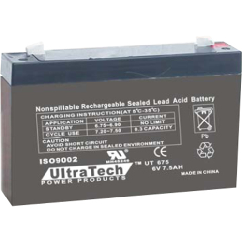BATTERY 6V 7.5AH LEAD ACID