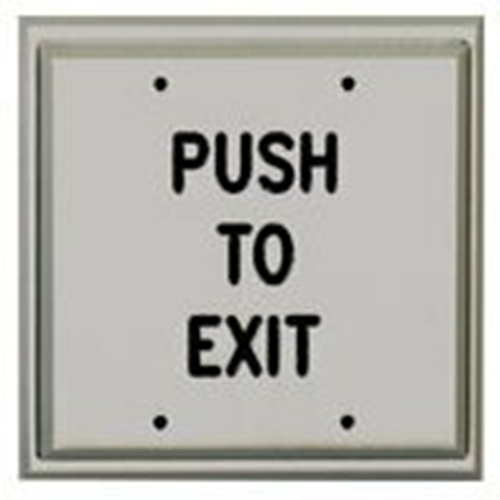 DOUBLE GANG PUSH PLATE D.P.D.T. 'PUSH TO EXIT'