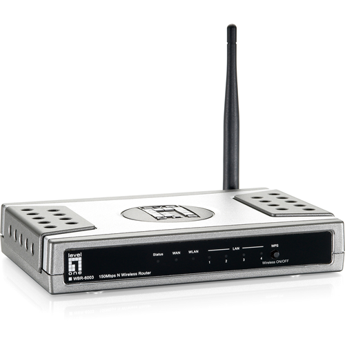 LEVELONE WBR-6003 11N 150MBS  BROADBAND ROUTER 2.4GHZ NAT WEP WPA