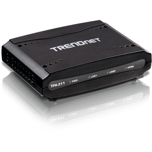 Trendnet Mid-Band Coaxial Network Adapter (TPA-311) uses existing coaxial cables to extend a high speed building-wide Triple Play network throughout the home or office. The mid-frequency adapter is designed to support deployment for digital TV, high spee