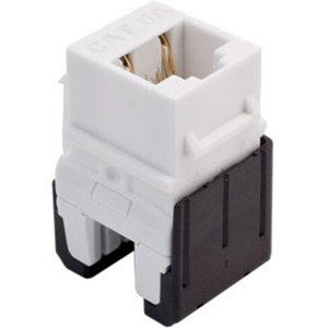 Cat 6a Quick Connect RJ45 Keystone Insert, White