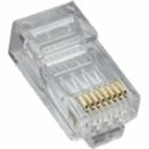 RJ45 (8P8C) CAT5E HP, ROUND-SOLID 3-PRONG. 25/CLAM