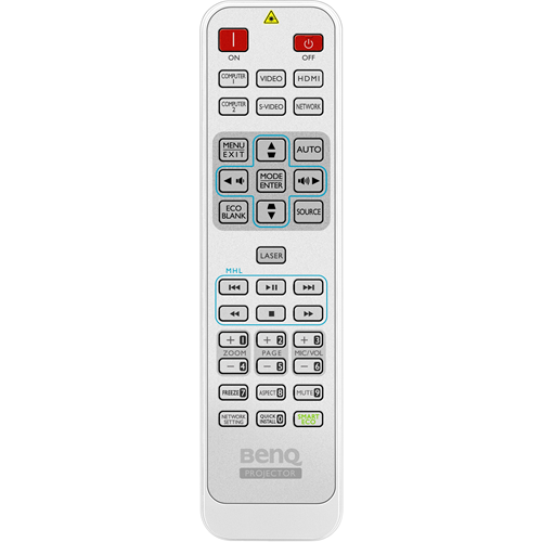 5J.JAD06.001-Remote Control for the MW824ST and MX823ST Projectors