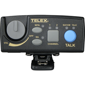 Telex Narrow Band UHF Two-Channel Wireless Synthesized Portable Beltpack