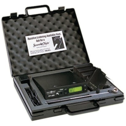SOUNDMATE PERSONAL LISTENING SYSTEM INCLUDES: ONE ST-300 17 CHANNEL BASE TRANSMI