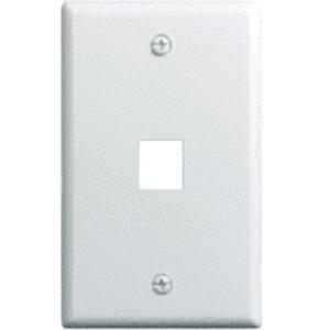 Legrand-On-Q 1-Gang, 1-Port Wall Plate, White