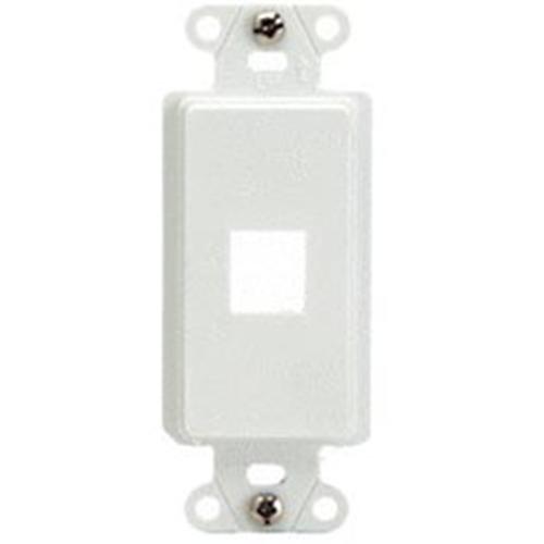 Legrand-On-Q 1-Port Decorator Outlet Strap, White