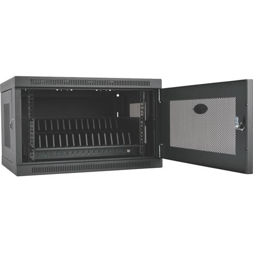 16-Port USB Tablet Charging Station, Black