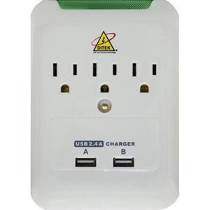 3-OUTLET WALL-MOUNT CHARGING STATION