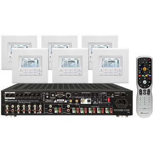 Russound KT2-66 Multi-zone Controller Amplifier System Kit with MDK-C6