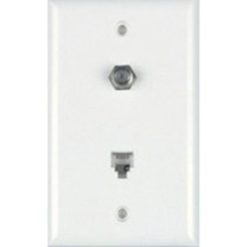 COLOR RITE/COAX PLATE IVORY UL