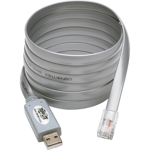 Tripp Lite USB to RJ45 Cisco Serial Rollover Cable, USB Type-A to RJ45 M/M, 6 ft.