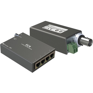 EC-Link Coaxial Cable over RJ45 Ethernet PoE Adapter System (Set of 2)