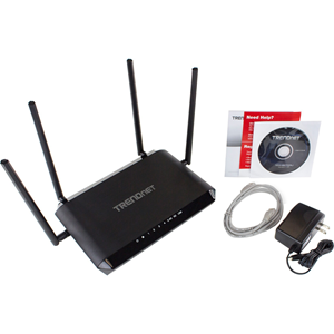 """TRENDnet's AC2600 StreamBoost MU-MIMO WiFi Router, model TEW-827DRU, is built to perform in a busy connected home. It generates two extreme quad-stream WiFi networks a 1,733 Mbps WiFi AC and a concurrent 800 Mbps WiFi N network. MU-MIMO technology proces"