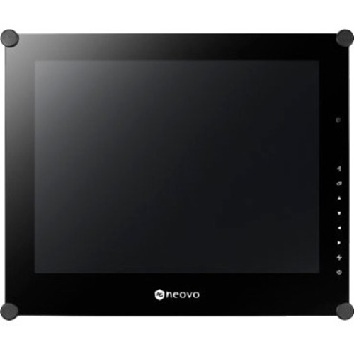 15IN SECURITY LCD, GLASSFRONT, METAL