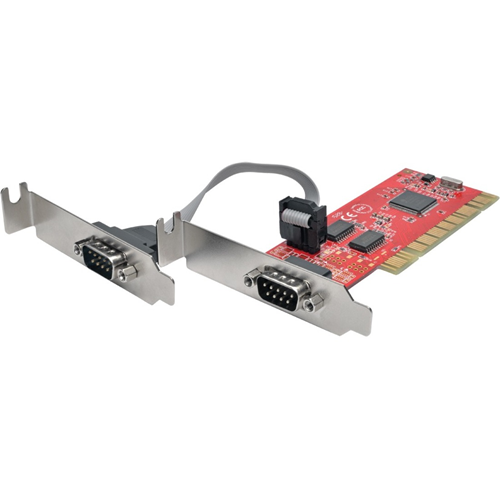 2P DB9 (RS-232) PCI LOW PRO