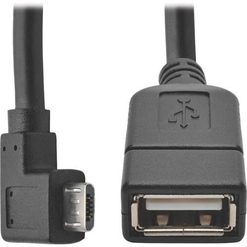 5-PIN USB MICRO-B USB-A (M/F) WHITE 6 IN