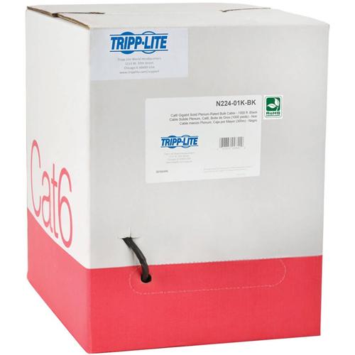 CAT6 GIGABIT SOLID PLENUM-RATED PVC BLK
