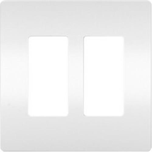 Legrand Two-Gang Screwless Wall Plate, White