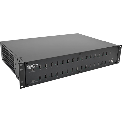 32-Port USB Charging Station with Syncing, 5V 80A (400W) USB Charger Output, 2U