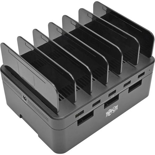 """USB Charging Station, 5-Port, 4-9/10""""Wx2-3/5""""Dx6-3/5""""H, BK"""