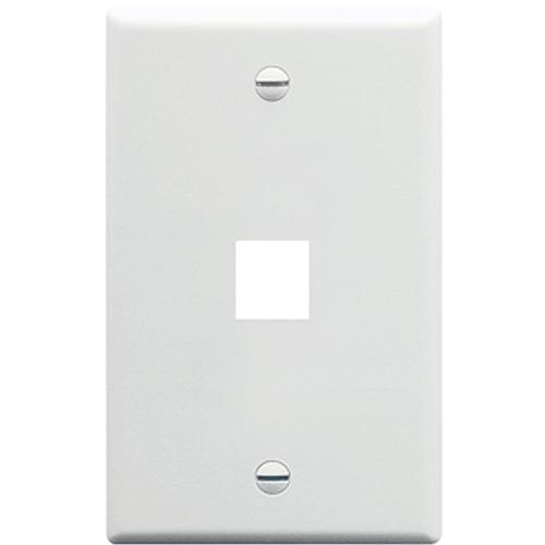 W Box 1 Port Single Gang Faceplate White