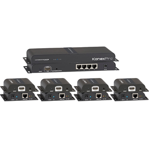 KanexPro HDMI 1x4 Distribution Amplifier Over CAT5e/6 Outputs