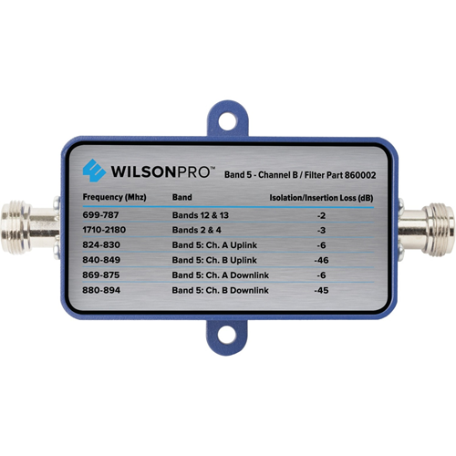 WilsonPro Band 5 Channel A Filter (N Connector)