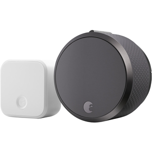 Turn your front door into a smart door with the August Smart Lock Pro + Connect. From your phone, lock and unlock your door from anywhere. Give keyless entry to family and friends, or schedule access for housekeepers and other home services without worry
