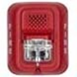 Wired - 12 V DC - 96 dB(A) - Audible, Visual - Wall Mountable - Red