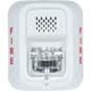 Wired - 12 V DC - 96 dB(A) - Audible, Visual - Wall Mountable - White