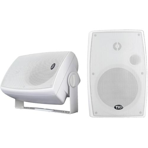 "6.5"" Bluetooth Patio Speakers Wht"